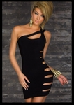 Black Over The Shoulder With Slits On side - Bike Rally / Club  Wear Dress