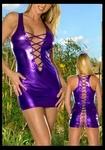 Purple Crisscross Front and Open Back - Bike Rally / Club  Wear Dress