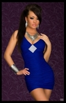 Royal Blue With Rhinestone Diamond - Bike Rally / Club Wear Dress