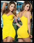 Yellow With A Flowing Bottom - Bike Rally / Club Wear Dress