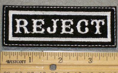 1328 L - Reject - Embroidery Patch