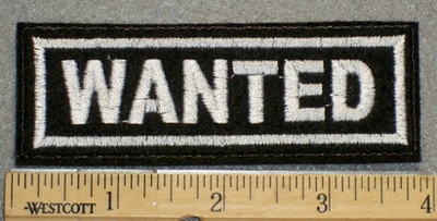 1382 L - Wanted - Embroidery Patch