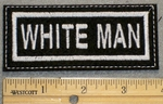 1386 L - White Man - Embroidery Patch