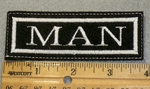 1417 L - Man- -Embroidery Patch