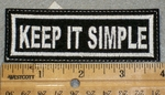 1415 L - Keep It Simple - Embroidery Patch
