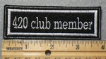 1396 L - 420 Club Member - Embroidery Patch