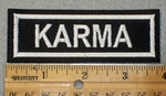 1457 L - Karma - white Lettering - Embroidery Patch