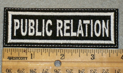 1426 L - Public Relation - White Lettering -  Embroidery Patch