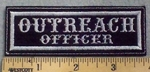 1314 L - Outreach Officer - Embroidery Patch