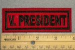 1833 L - V. President - Embroidery Patch