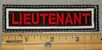 1459 L -  Lieutenant- Red lettering - Embroidery Patch