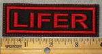 1460 L - Lifer- Red Lettering - Embroidery Patch