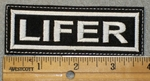 1461 L - Lifer - White lettering - Embroidery Patch