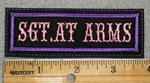 1754 L - Sgt. At Arms - Embroidery Patch