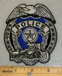 2049 G - Protect And Serve Police badge - Embroidery Patch