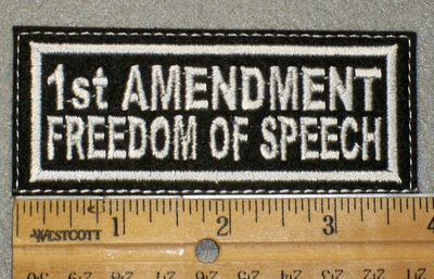 1436 L - 1st Ammendment Freedom of Speech - Embroidery Patch