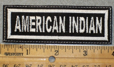 1443 L - American Indian - Embroidery Patch