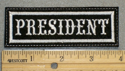 1324 L - President - Embroidery Patch