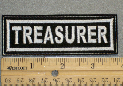1367 L- Treasurer - Embroidery Patch
