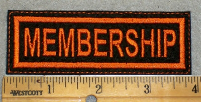 1984 L - Membership - Orange Border - Embroidery Patch