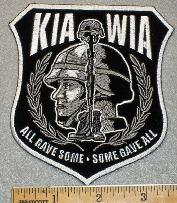 1416 G - KIA WIA With Military Mans Face - Embroidery Patch