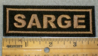 1472 L - Sarge - Brown Lettering - Embroidery Patch