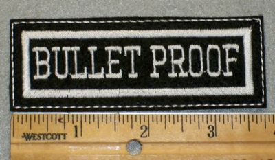 1909 L - Bullet Proof - EMbroidery Patch