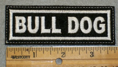 1959 L - Bull Dog - Embroidery Patch