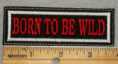 1949 L - Born To Be Wild - Red Lettering - Embroidery Patch