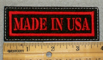 1971 L - Made In USA - red Border - Embroidery Patch