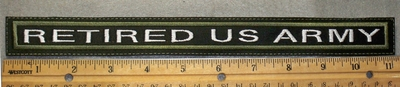 1773 L - Retired US Army - 11 inch - Embroidery Patch
