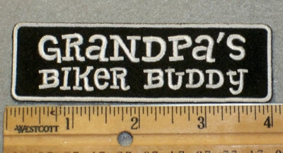 2012 L - Grandpa's Biker Buddy - Embroidery Patch