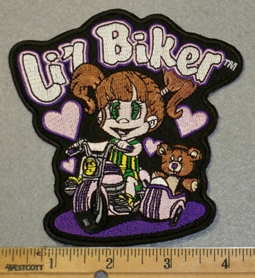 2023 G - Lil Biker - Little Girl On Tricycle - Embroidery Patch