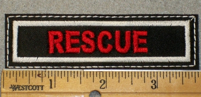 1471 L - Rescue - Red Lettering - Embroidery Patch