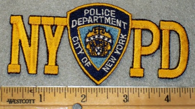 1939 N -discontinued  NYPD With Police Badge - Embroidery Patch