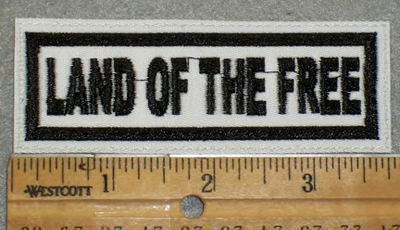 1952 L - Land Of The Free- White Background - Embroidery Patch