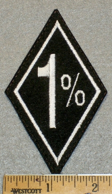 1394 L - 1% - Diamond Patch - Embroidery Patch