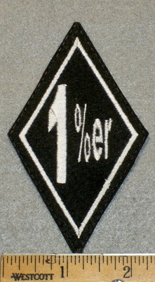 1393 L - 1%er- Diamond Patch- Embroidery Patch