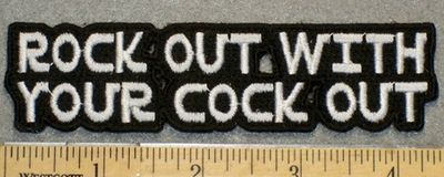 1337 N - Rock Out With Your Cock Out - Lettering - Embroidery Patch