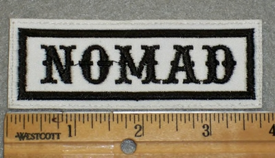 1902 L - Nomad - White Background _ Embroidery Patch