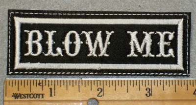 1950 L - Blow Me - Embroidery Patch