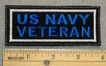 1374 L - US Navy Veteran - Embroidery Patch