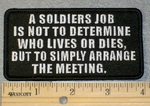 1777 G - A Soldiers Job - Embroidery Patch