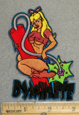2184 N - Chick With Dynamite - Embroidery Patch