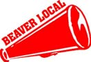 BEAVER LOCAL CHEERLEADER megaphone sticker