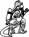 FIREFIGHTER WITH HOSE