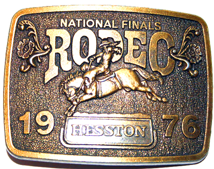 Collectors 1989  Hesston National Finals Rodeo Limited Edition Belt Buckle