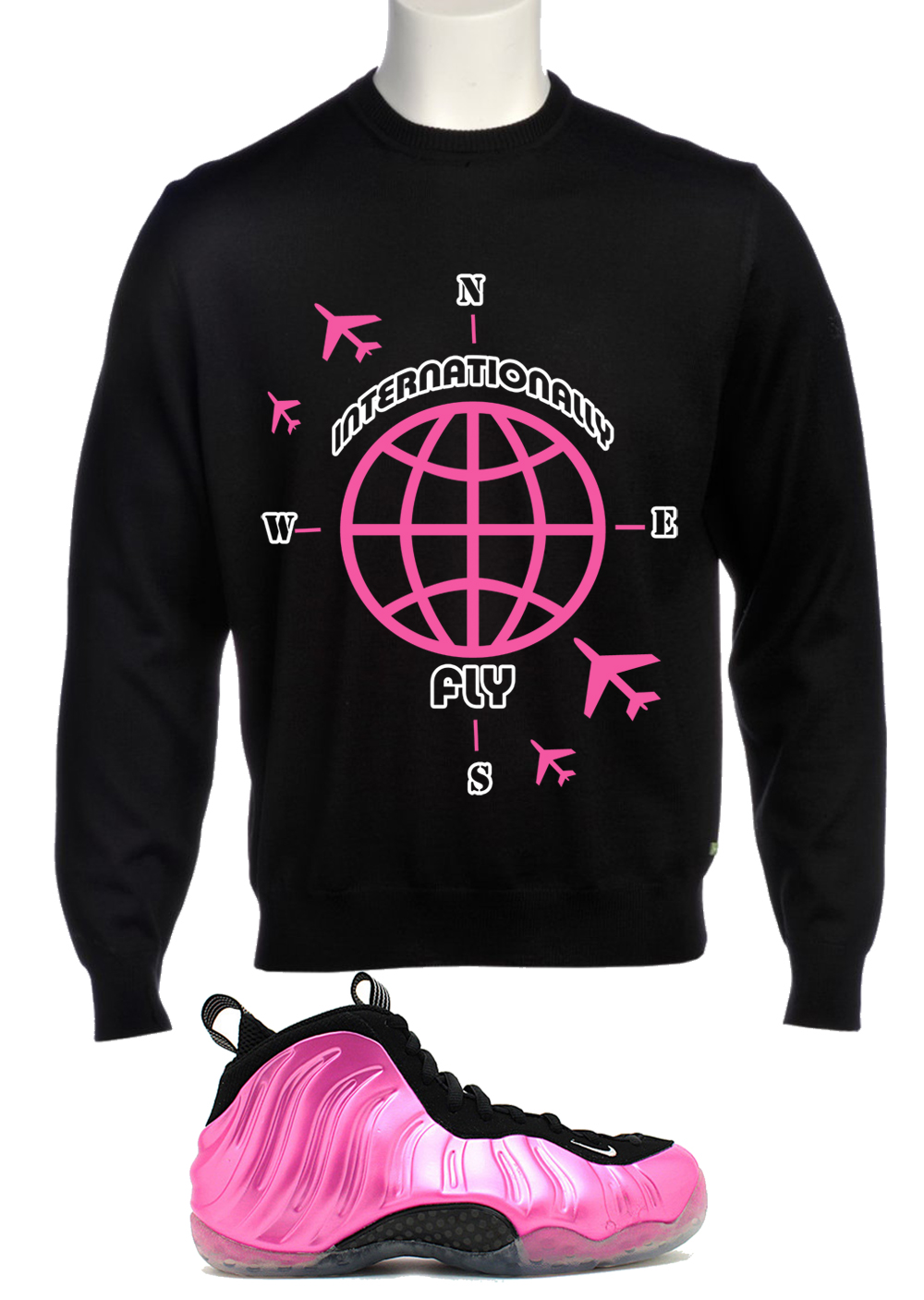 online retailer 77a6b 33ad9 SneakerGeeks Clothing - Internationally Fly Crewneck to ...