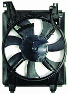 2001 2002 2003 2004 2005 2006 HYUNDAI ELANTRA CONDENSER COOLING FAN ASSEMBLY - 610580