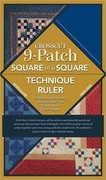 New Cross Cut 9-Patch Ruler with Book